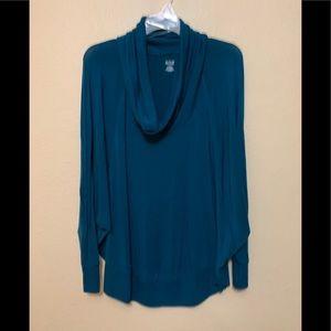Cute ANA cowl neck sweater, dark teal